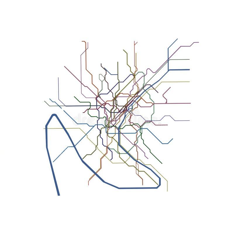 Mapa do metro de Paris ilustração do vetor