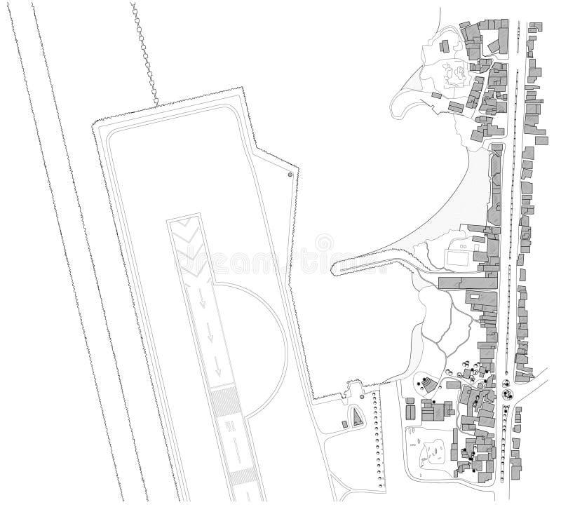 Mapa do modelo da cidade ilustração royalty free