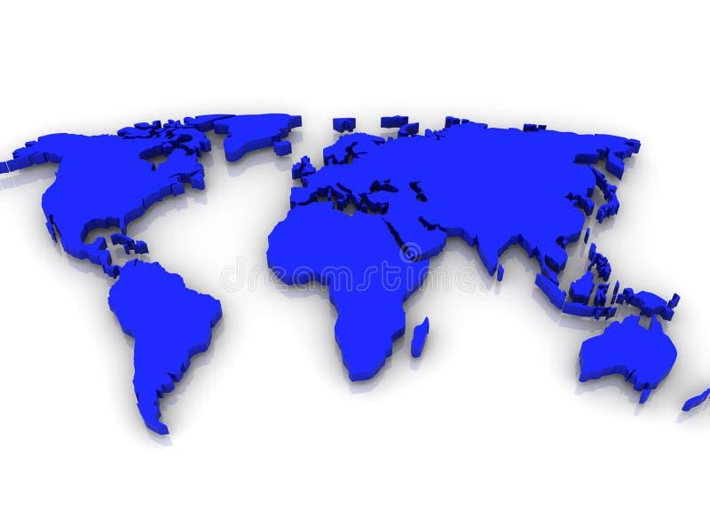 Mapa do mundo. ilustração do vetor