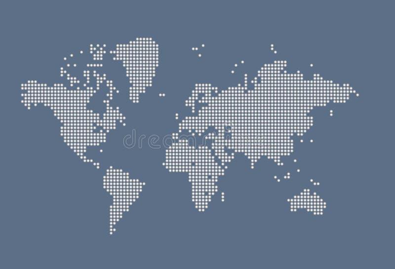 Mapa do mundo imagens de stock royalty free