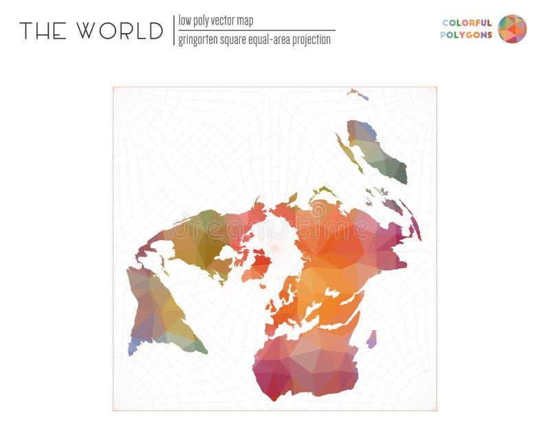 Mapa do mundo abstrato ilustração royalty free