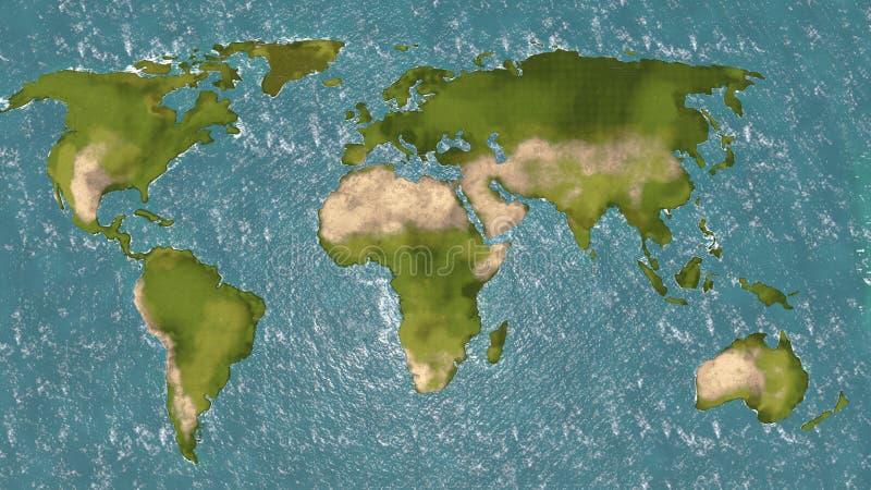Mapa do mundo 3d ilustração do vetor