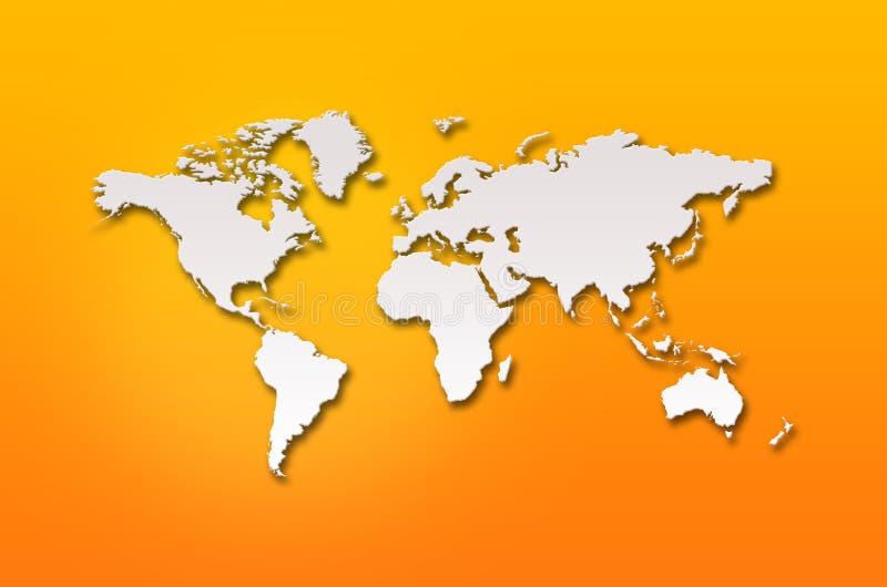 Mapa do mundo 3d abstrato ilustração do vetor