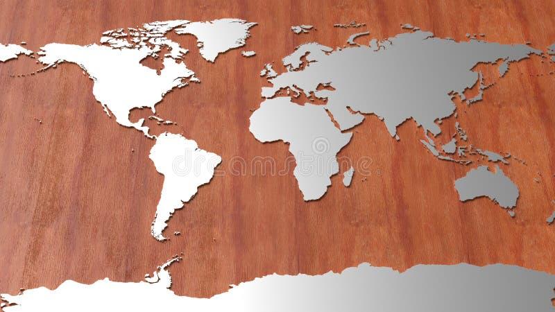 Mapa do mundo da Olá!-tecnologia foto de stock