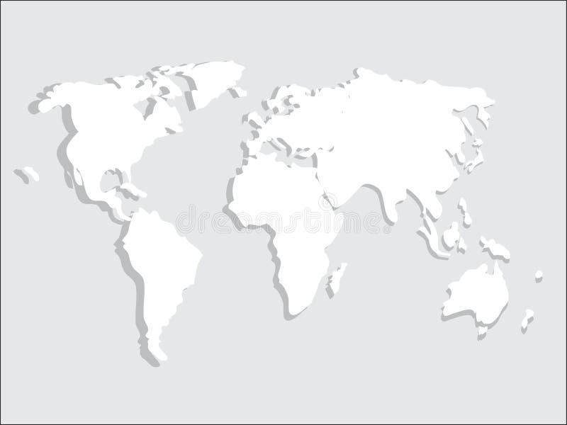 Mapa do mundo de papel ilustração royalty free