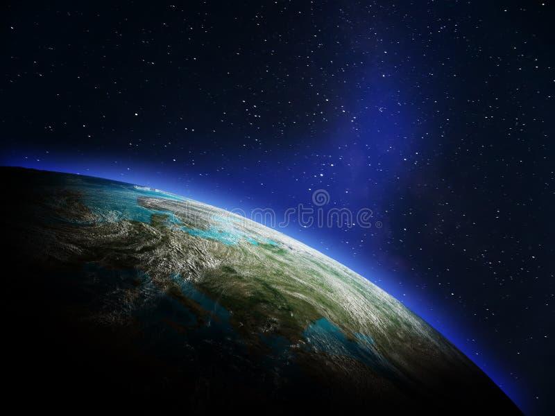 Mapa do mundo do espaço ilustração royalty free