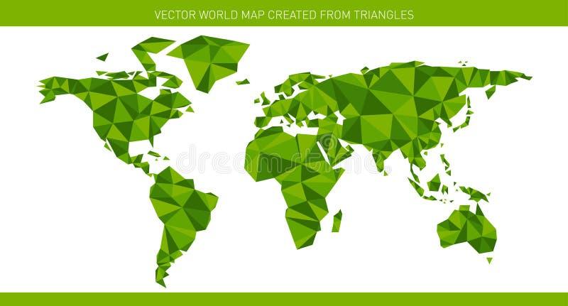 Mapa do mundo do origâmi ilustração do vetor