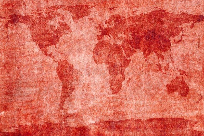 Mapa do mundo envelhecido fotos de stock royalty free