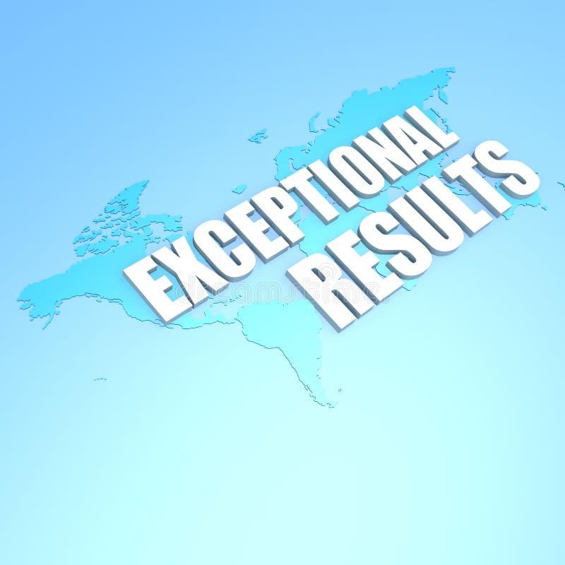 Mapa do mundo excepcional dos resultados ilustração stock
