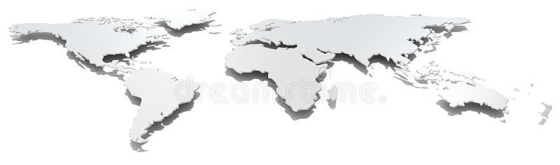 Mapa do mundo largo da imagem ilustração do vetor