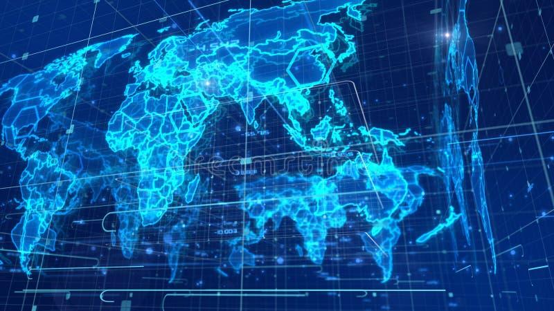 Mapa do mundo multicamada da notícia ilustração royalty free
