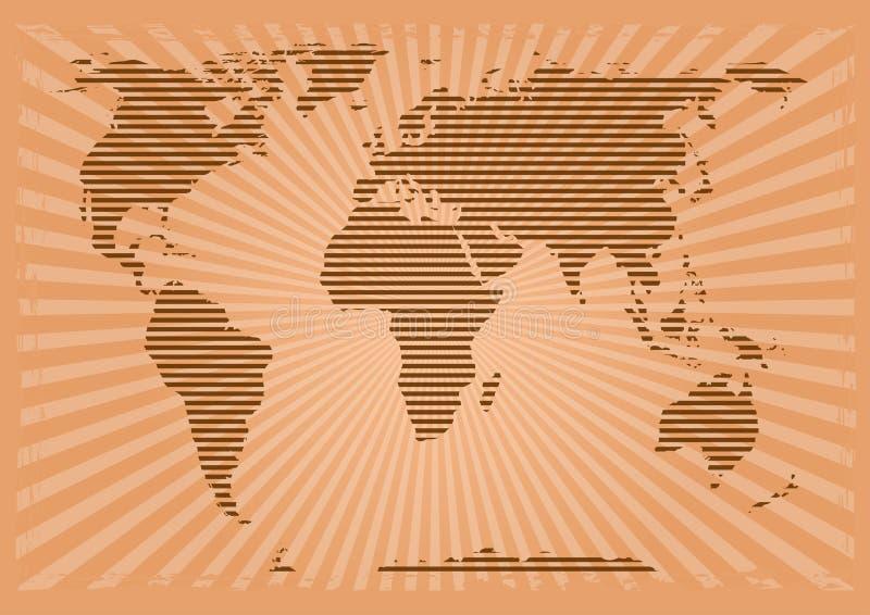 Mapa do mundo no estilo do grunge Ilustração do vetor ilustração royalty free