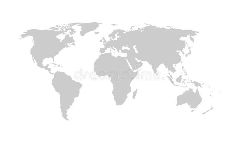 Mapa do mundo, vetor ilustração royalty free