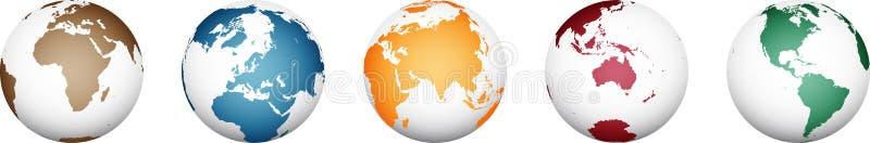 Mapa do mundo - vetor detalhado alto ilustração stock