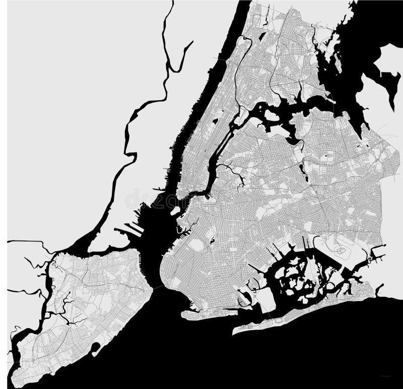 Mapa do New York City, NY, EUA ilustração royalty free