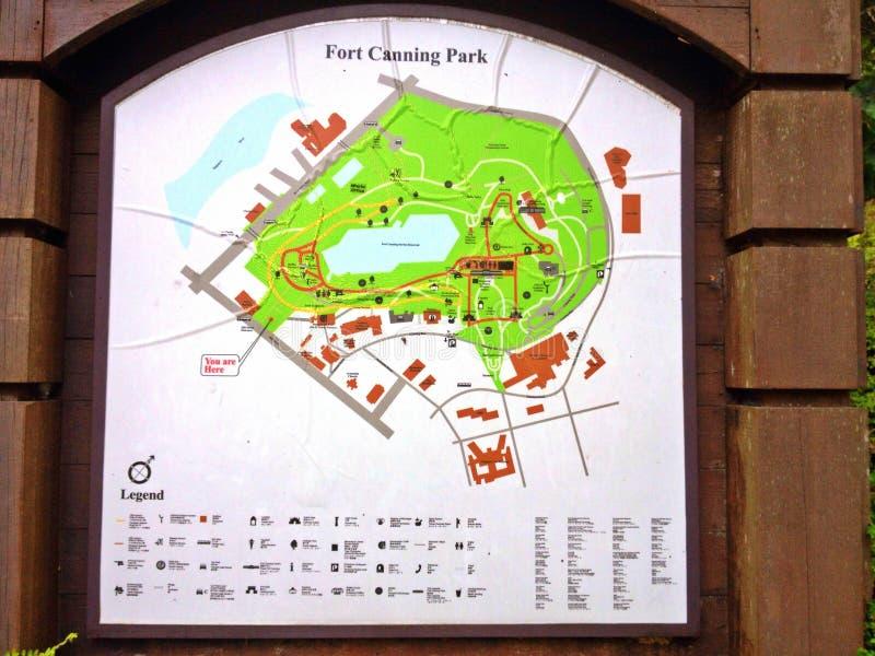 Mapa do parque imagens de stock