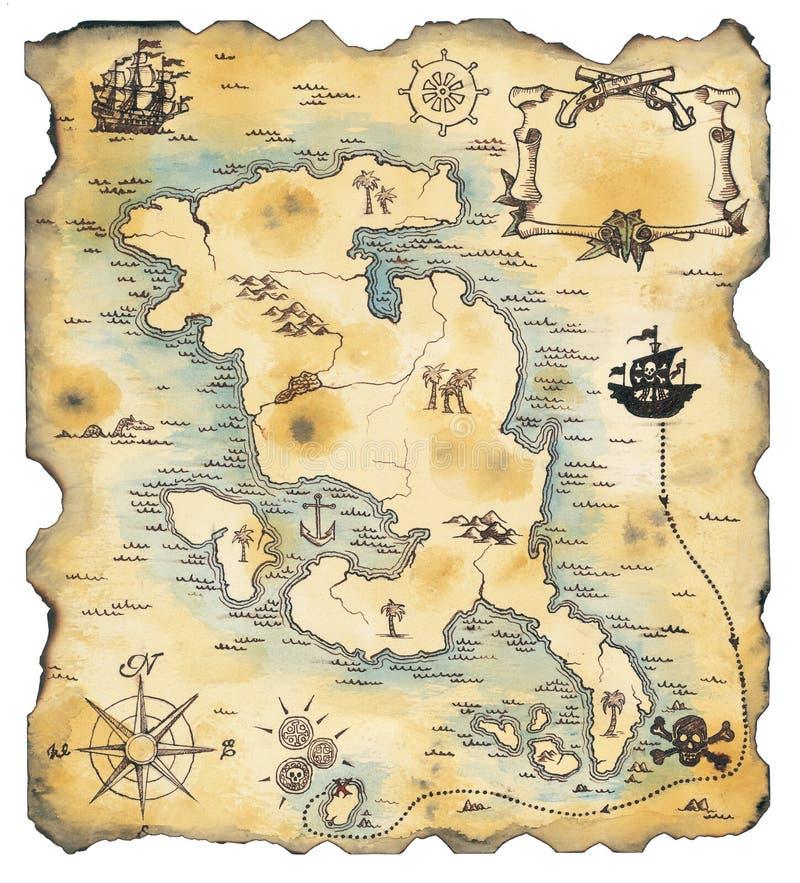 Mapa do pirata fotos de stock
