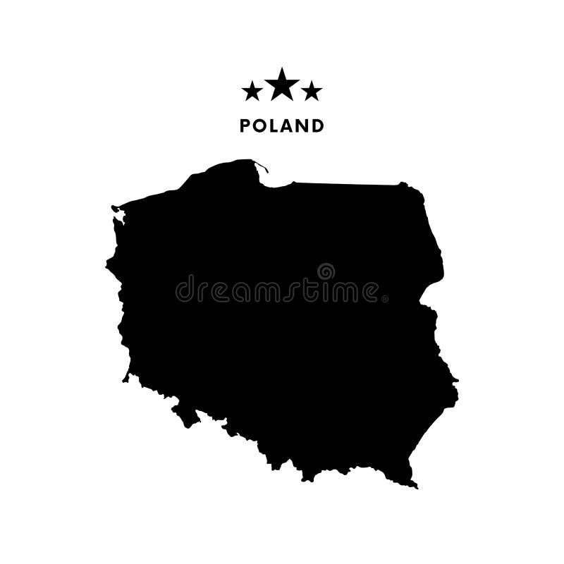 Mapa do Polônia Ilustração do vetor ilustração stock