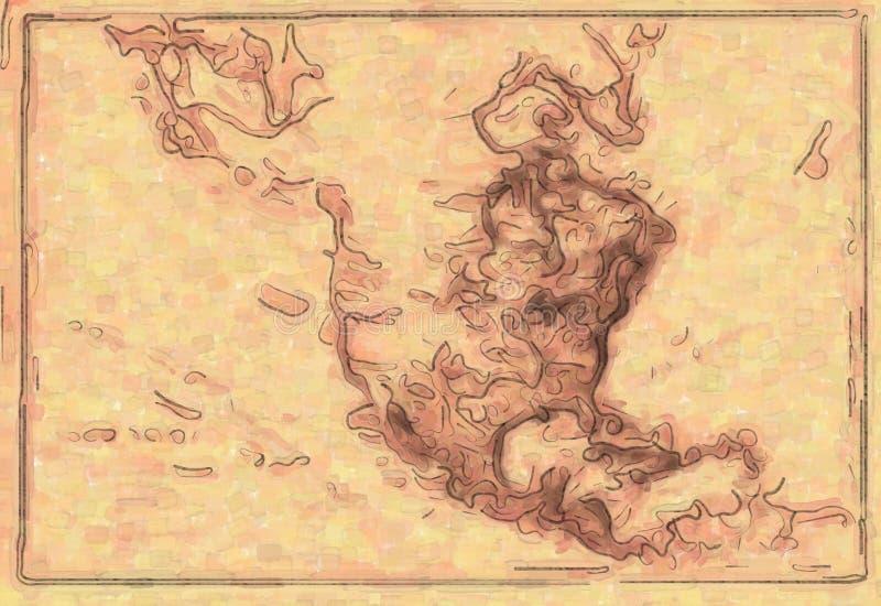 Mapa do projeto do fundo ilustração royalty free