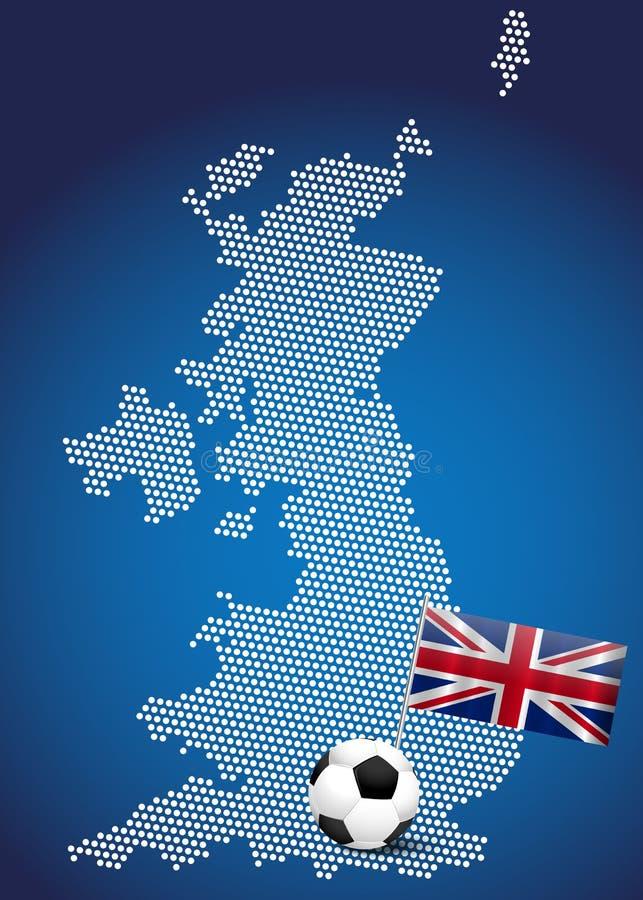 Mapa do Reino Unido ilustração stock
