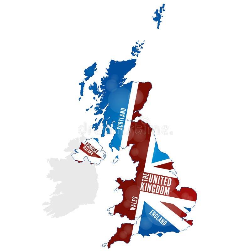 Mapa do Reino Unido ilustração royalty free