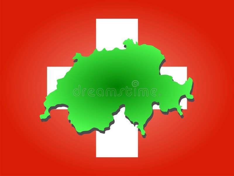 mapa do Szwajcarii royalty ilustracja