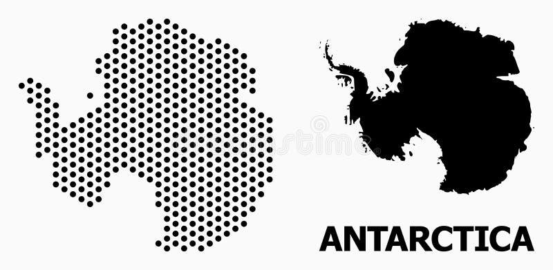 Mapa do teste padrão do pixel da Antártica ilustração stock