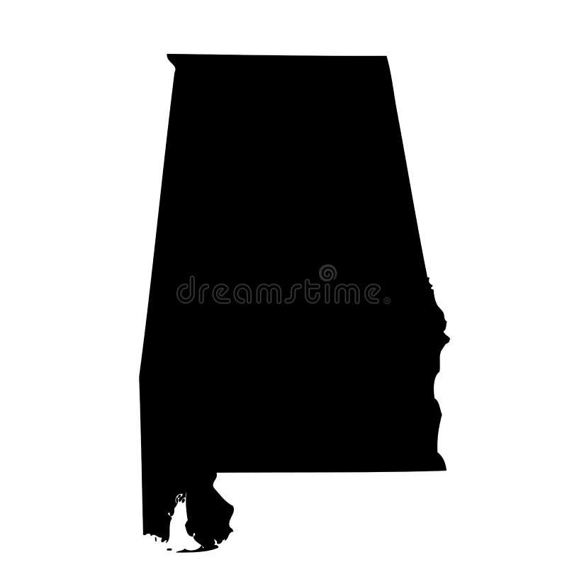 Mapa do U S estado Alabama ilustração do vetor