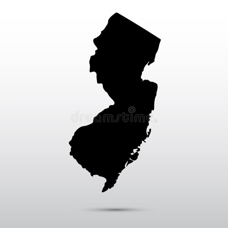 Mapa do U S Estado de New-jersey ilustração stock
