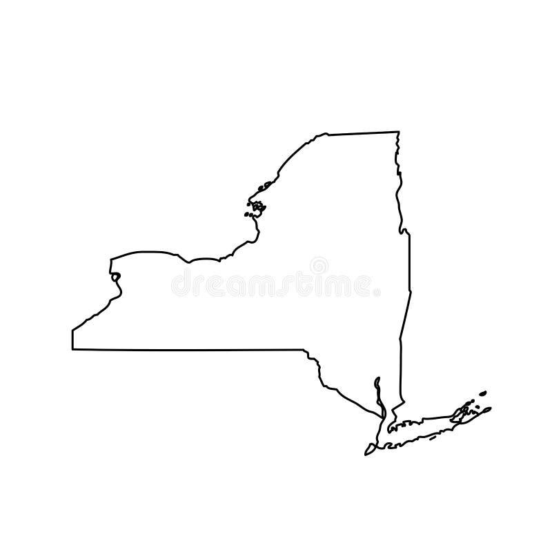 Mapa do U S Estado de New York ilustração stock
