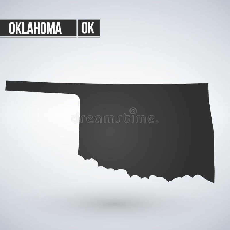 Mapa do U S Estado de Oklahoma Ilustração do vetor ilustração do vetor