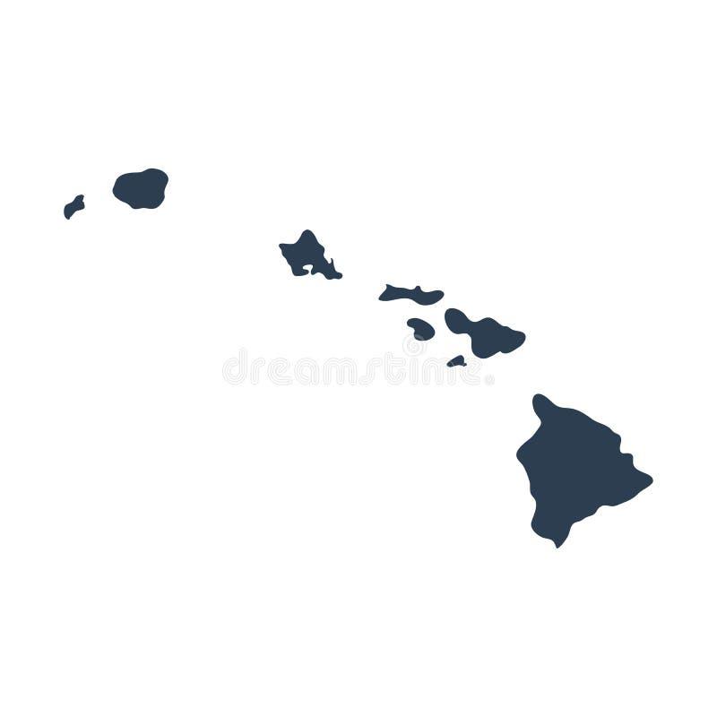 Mapa do U S estado Havaí imagens de stock