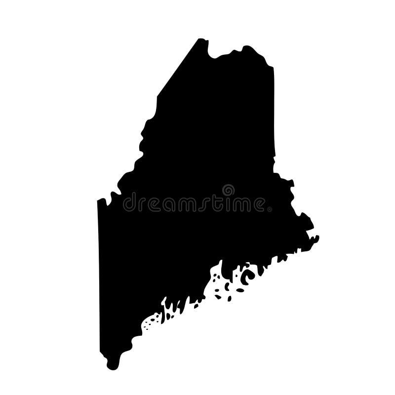 Mapa do U S Estado Maine ilustração stock