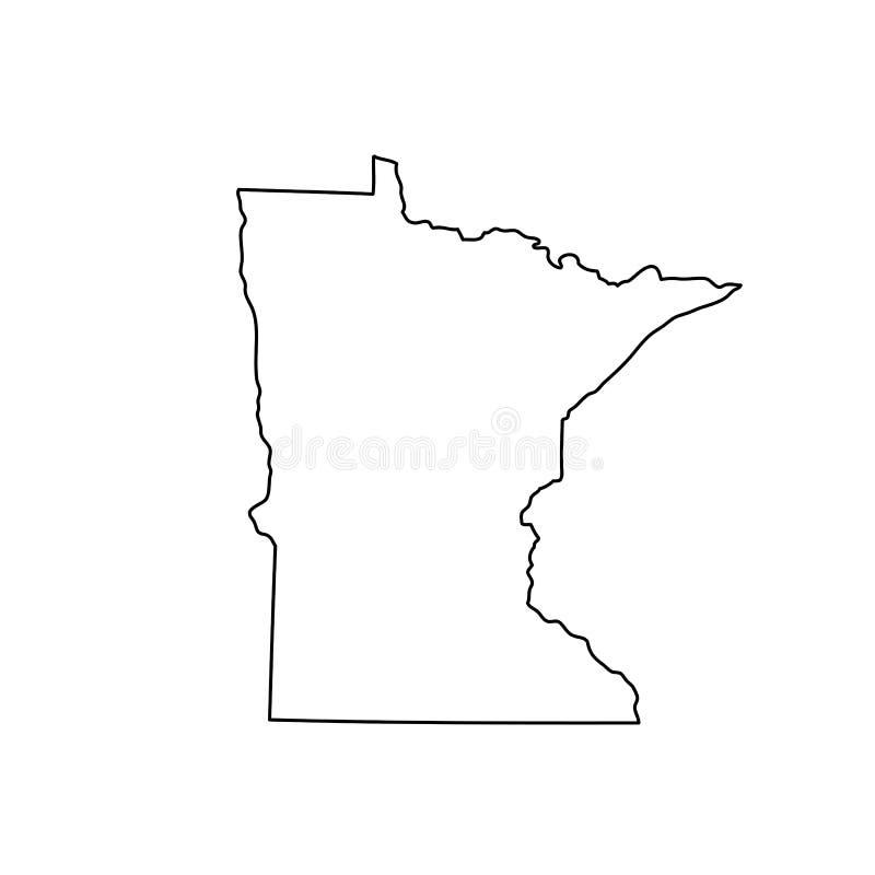 Mapa do U S estado Minnesota ilustração do vetor