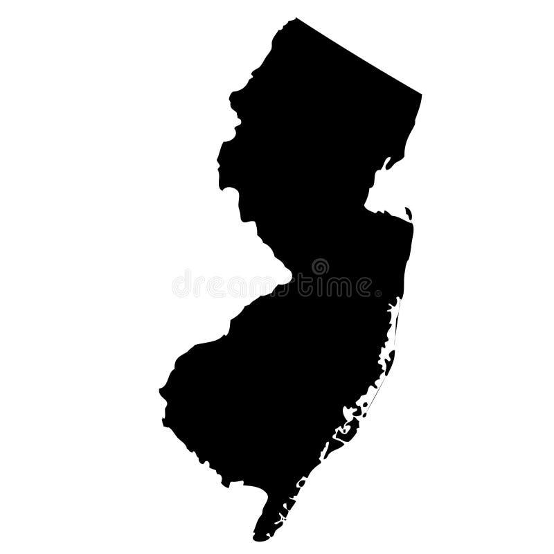 Mapa do U S estado New-jersey ilustração stock