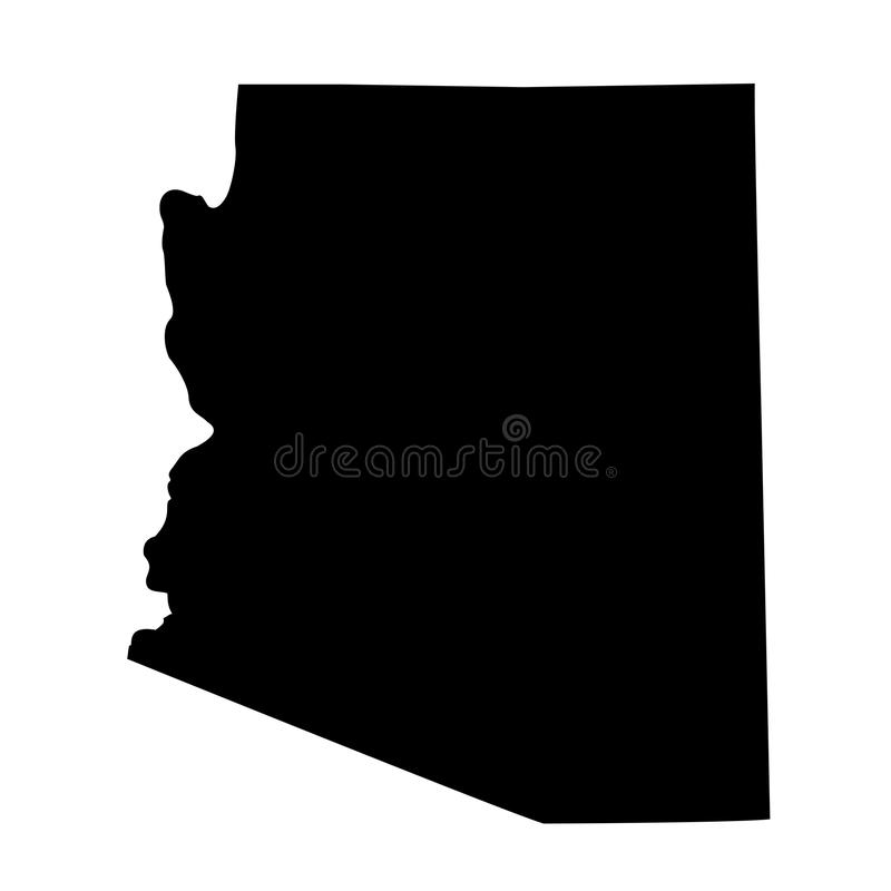 Mapa do U S estado o Arizona ilustração royalty free