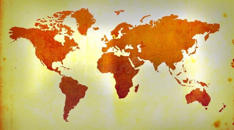 Mapa do Velho Mundo ilustração do vetor