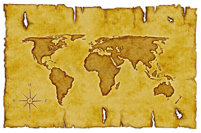 Mapa do Velho Mundo ilustração royalty free
