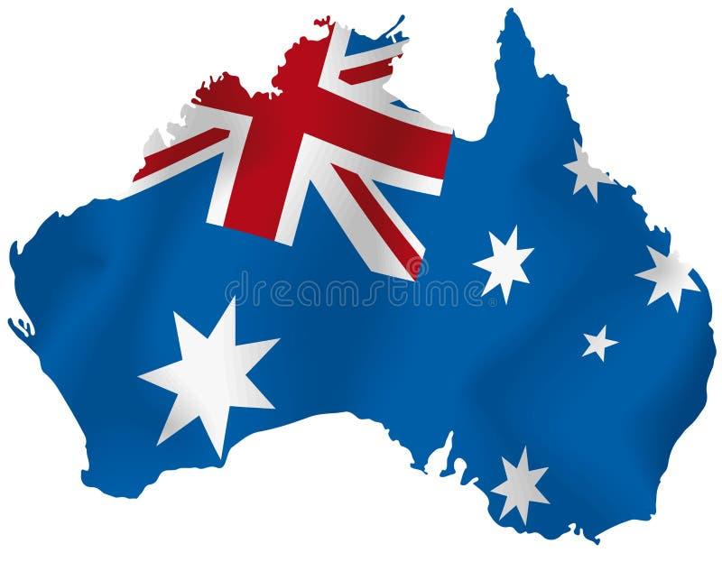 Mapa do vetor de Austrália ilustração royalty free