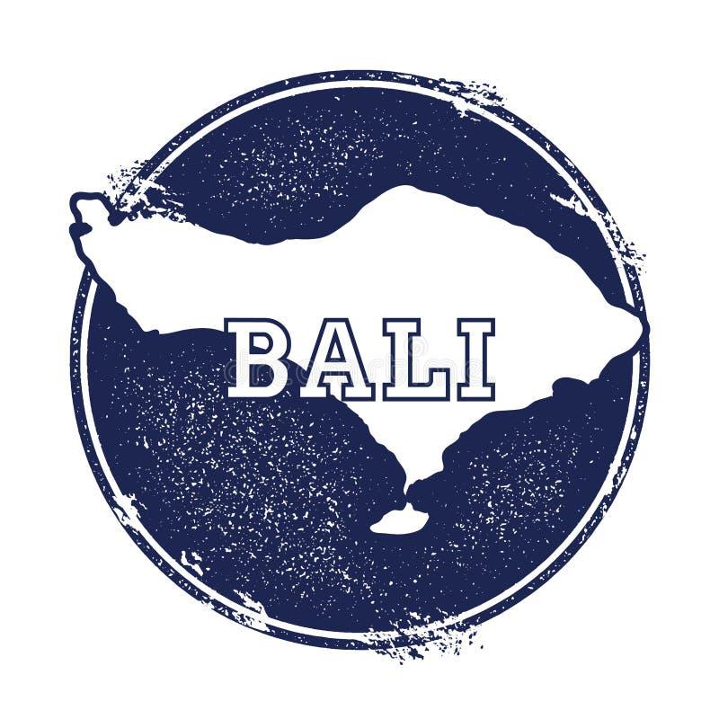 Mapa do vetor de Bali ilustração royalty free