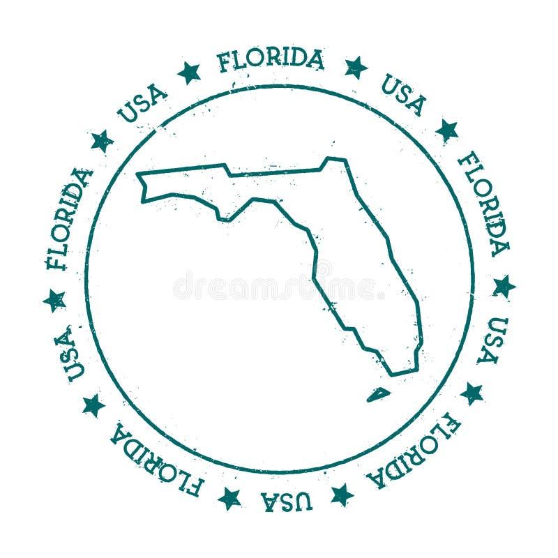 Mapa do vetor de Florida ilustração do vetor
