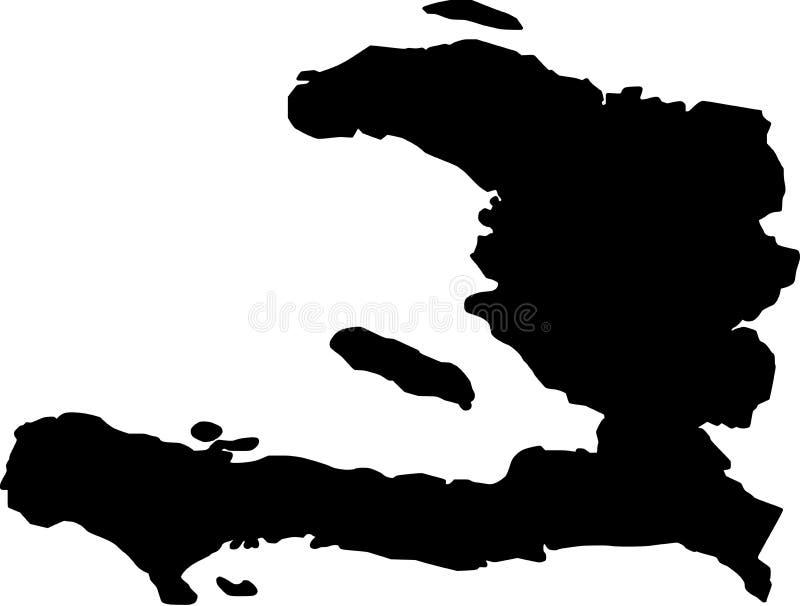 Mapa do vetor de Haiti ilustração stock