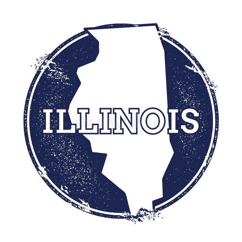 Mapa do vetor de Illinois ilustração do vetor
