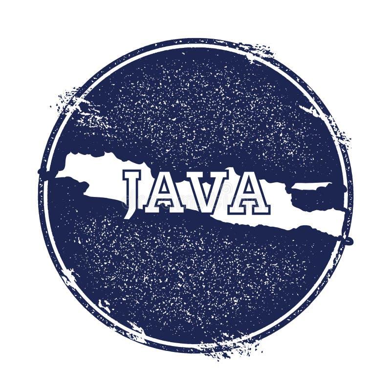 Mapa do vetor de Java ilustração royalty free