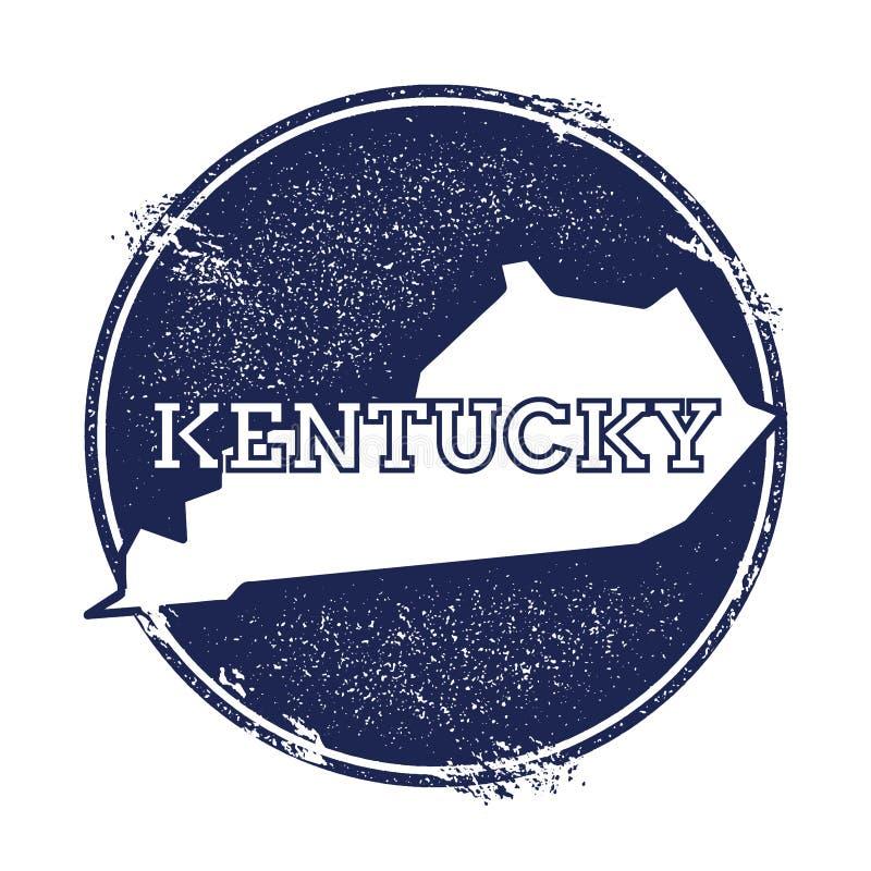 Mapa do vetor de Kentucky ilustração royalty free