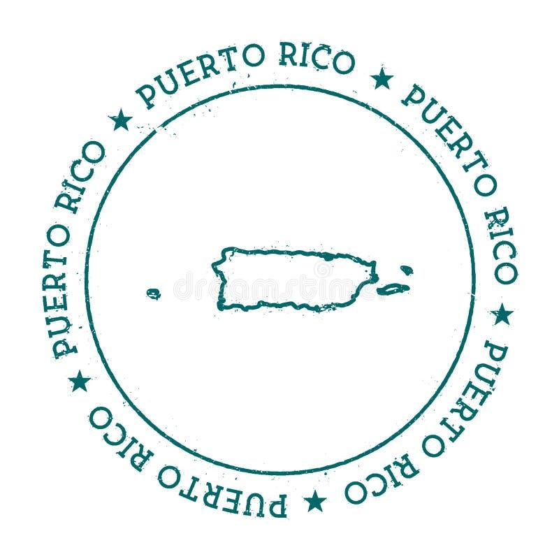 Mapa do vetor de Porto Rico ilustração do vetor