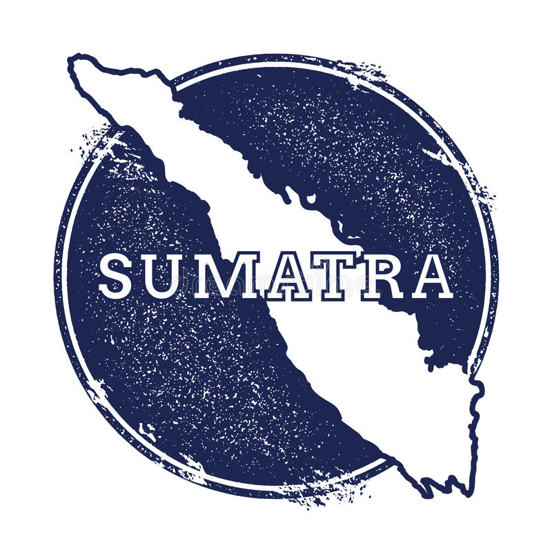 Mapa do vetor de Sumatra ilustração stock
