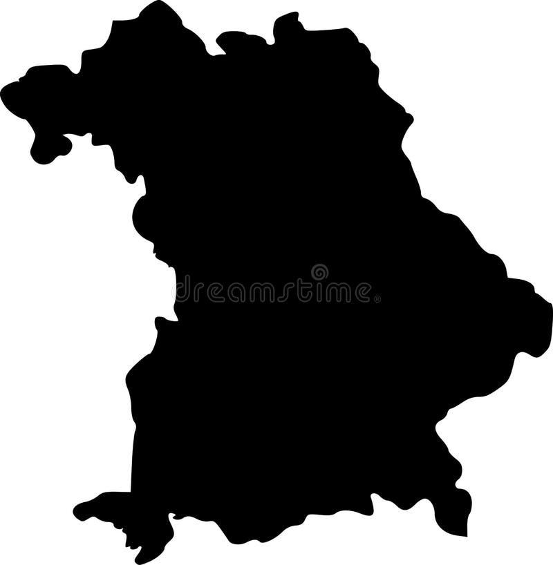 Mapa do vetor do bavaria ilustração stock