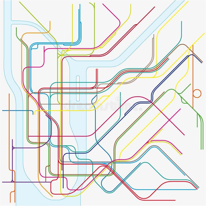 mapa do vetor do metro de New York City ilustração stock