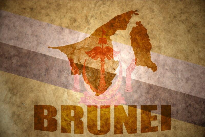 Mapa do vintage de Brunei Darussalam fotografia de stock